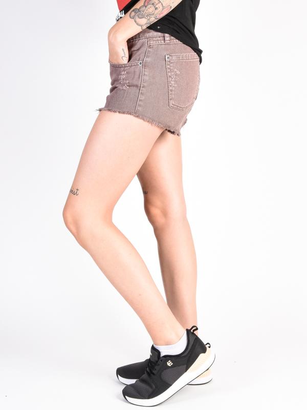 Rvca Hello Mellow Raisin Ladies Denim Shorts Swis Shop Com