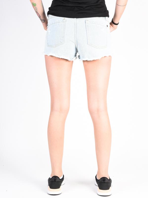 Rvca Hello Mellow Bleach Bum Ladies Denim Shorts Swis Shop Com