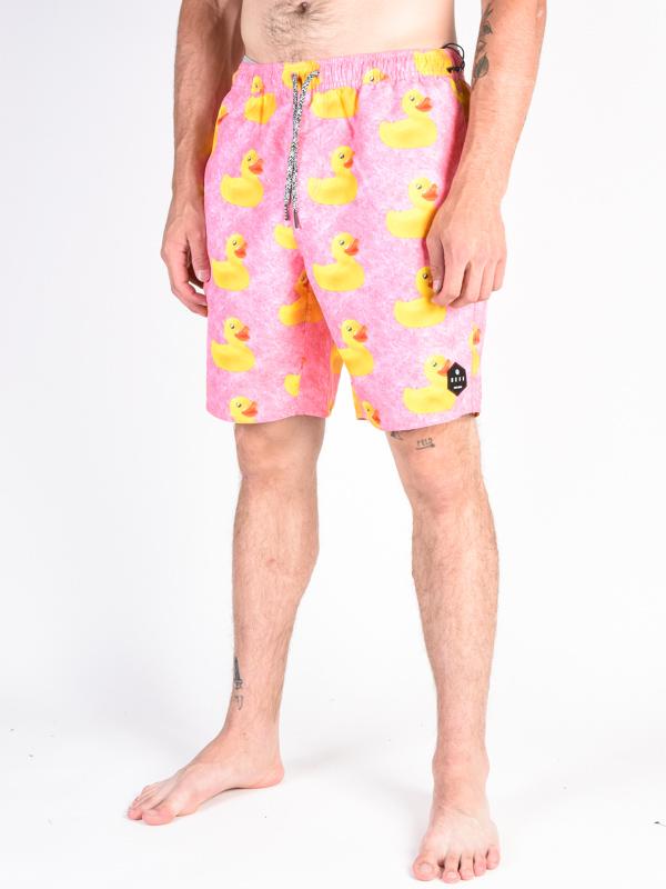 8ebc1df5e287d Neff DAILY HOT TUB PINK WASH DUCKY men's shorts / Swis-Shop.com
