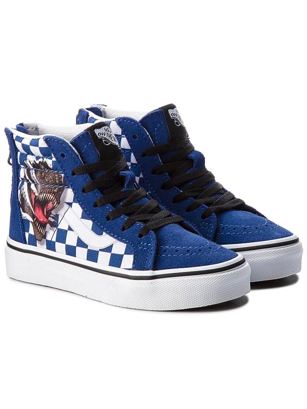 13d63a44fe Vans SK8-HI ZIP (CHECKERBOARD) DINO TRUE children´s shoes   Swis-Shop.com