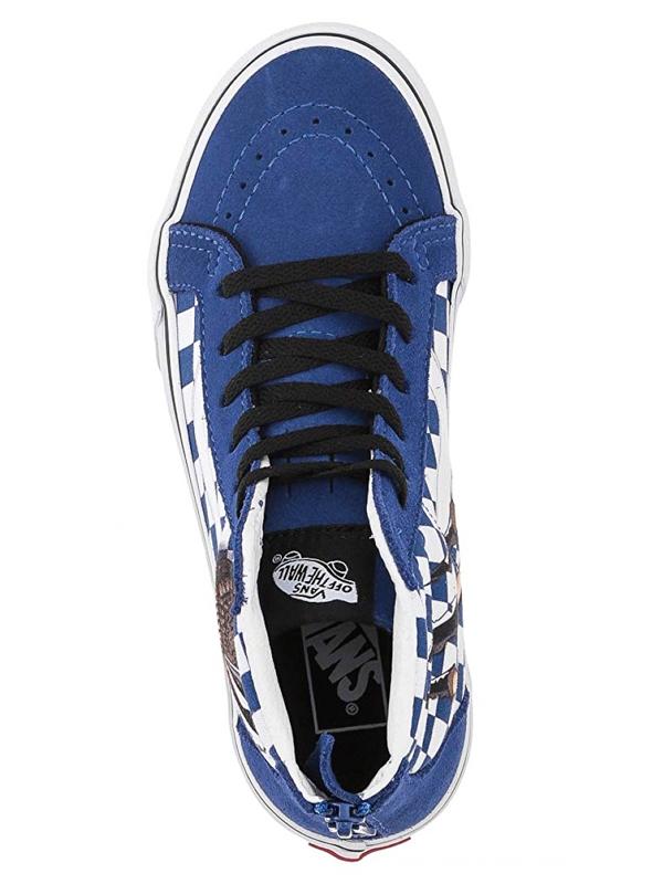 efd7d1a219 Vans SK8-HI ZIP (CHECKERBOARD) DINO TRUE WHITE children´s shoes    Swis-Shop.com