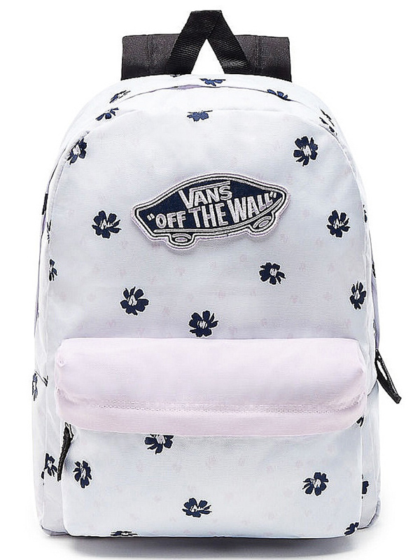 Vans REALM WHITE ABSTRACT DAISY school backpack Swis