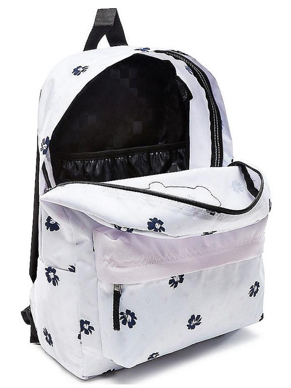 00e1b4b67c Vans REALM WHITE ABSTRACT DAISY school backpack   Swis-Shop.com