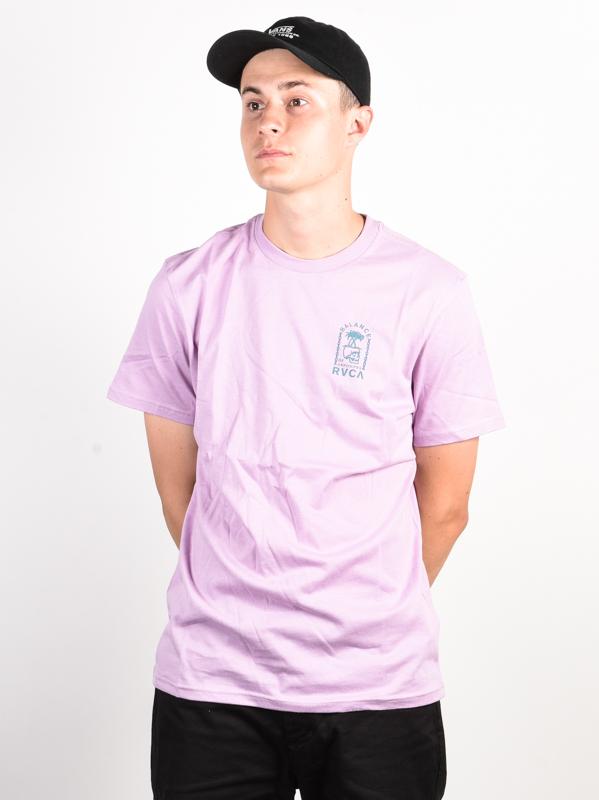 Lavender RVCA Bad Palms T-Shirt