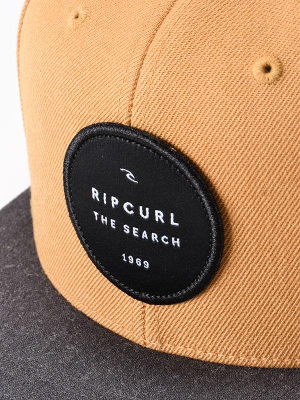 fd102c3f536aeb Rip Curl VALLEY BADGE Vintage Yellow men's cap with straight peak /  Swis-Shop.com